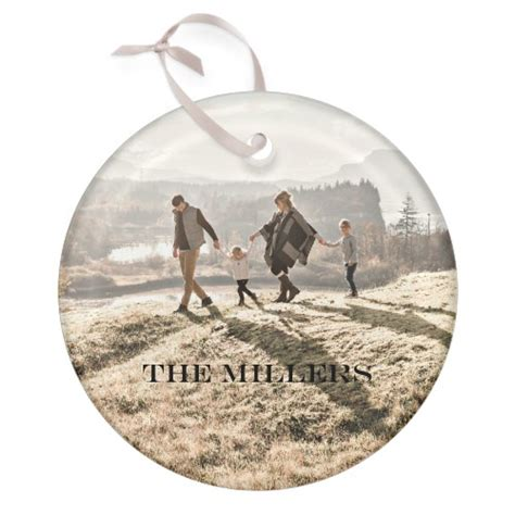 photo gallery circle glass ornament christmas ornaments