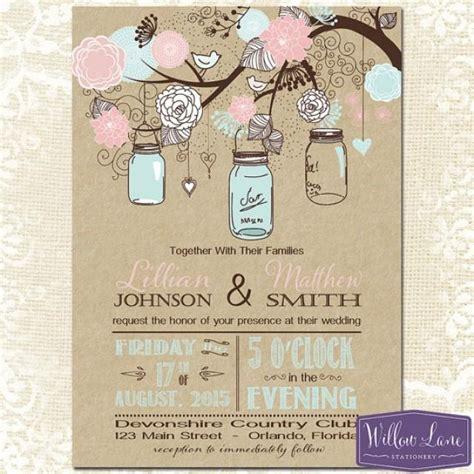 free jar wedding invitation printable templates jar wedding invitation kraft pink and blue
