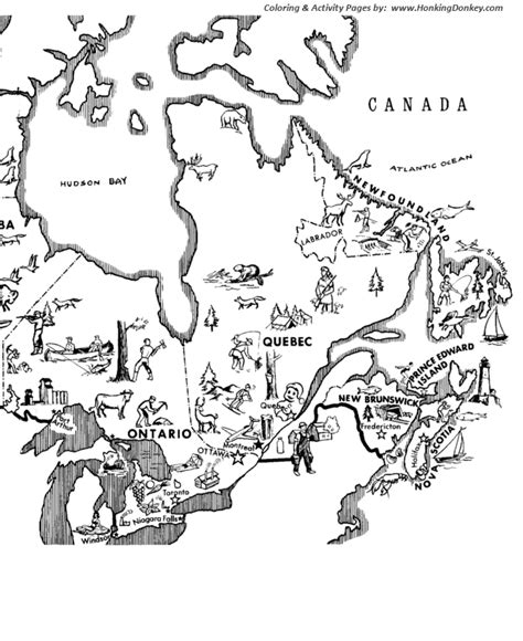 Canada Colouring Pages Canada Map Coloring Page