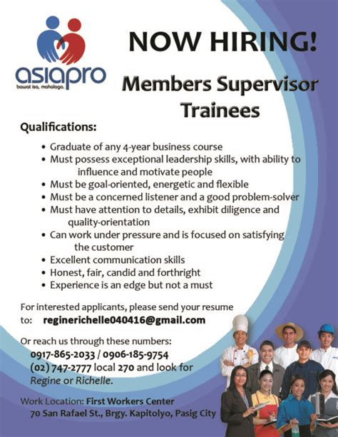 Job Resume Philippines by Now Hiring Asiapro Multi Purpose Cooperative Lyceum Of The Philippines University Batangas