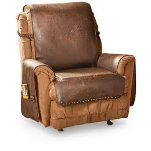 Armchair Slipcover Faux Leather Recliner Cover 666210 Furniture Covers At
