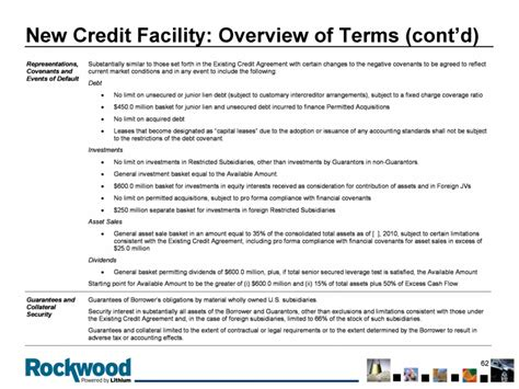 Sle Credit Facility Agreement Graphic