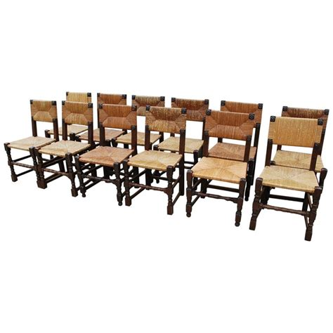 set  twelve oak french country kitchen dining chairs