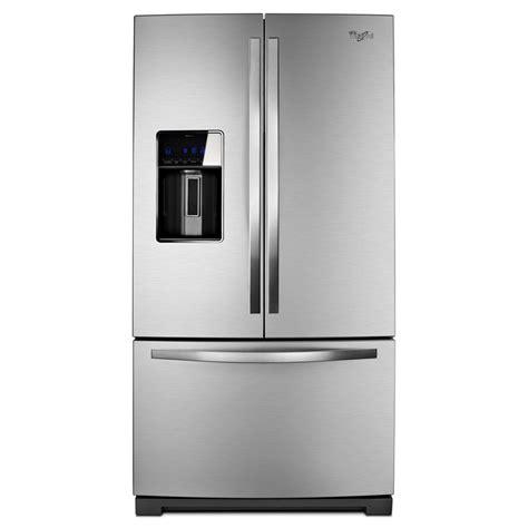 Whirlpool Refrigerator Door by Shop Whirlpool 26 8 Cu Ft Door Refrigerator With