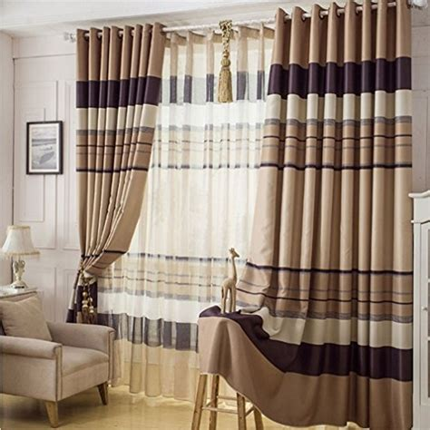 102 inch curtains ffmode stripes blackout drapes curtains grommet top 100