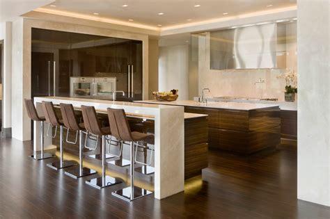 30 elegant contemporary kitchen ideas elegant bar stools kitchen contemporary with backlighting