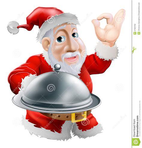 Christmas Table Settings santa with food stock photography image 27923762
