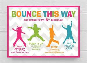 printable bounce birthday invitation birthday invitations