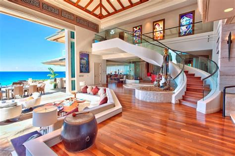 beautiful house interior view of the kitchen jewel of maui a luxurious mansion on ocean shore hawaii