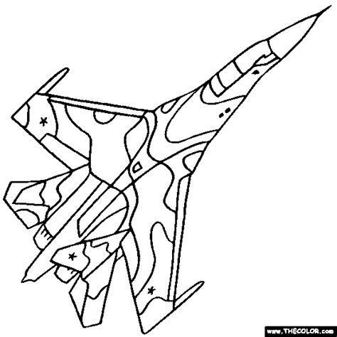 Army Jets Coloring Pages | drawn jet army jet pencil and in color drawn jet army jet