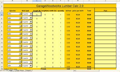 Board Feet Calculator World Of Printable And Chart