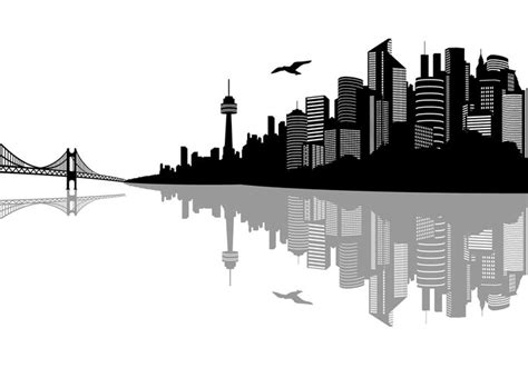 City Outline Vector by City Landscape Wallpaper Brush Pack Free Photoshop Brushes At Brusheezy
