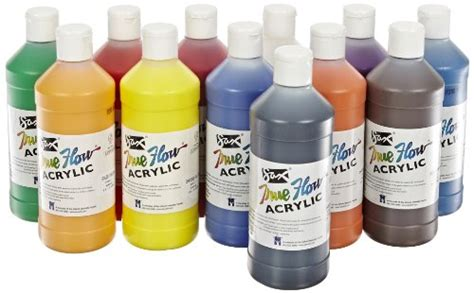 acrylic paint reviews sax true flow acrylic paint pint set of 12 assorted