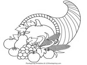 free printable cornucopia coloring pages coloring home