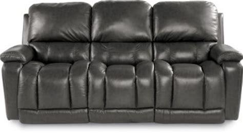 la z boy leather reclining sofa la z boy greyson gray 100 leather reclining sofa