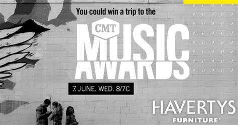 Cmt Sweepstakes - cmt music awards havertys sweepstakes 2017 havertysvip com