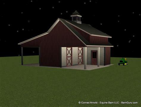 stall horse barn plans