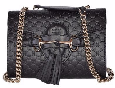 Guccis Necklace For Fans Of Flipper by New Gucci 449636 Black Micro Gg Guccissima Leather Mini