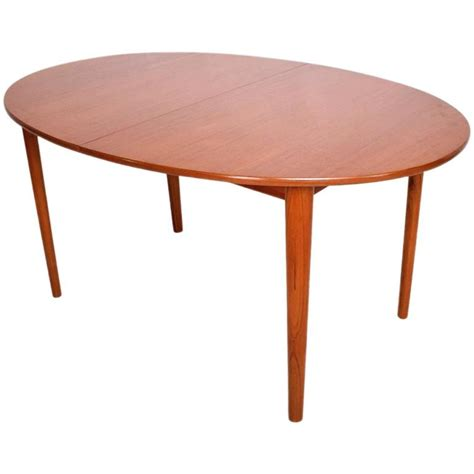 Oval Shape Dining Table Modern Teak Dining Table Oval Shape With Extensions For Sale At 1stdibs