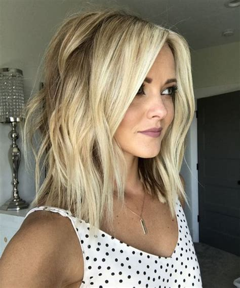 stylish sweet lob haircut ideas shoulder length