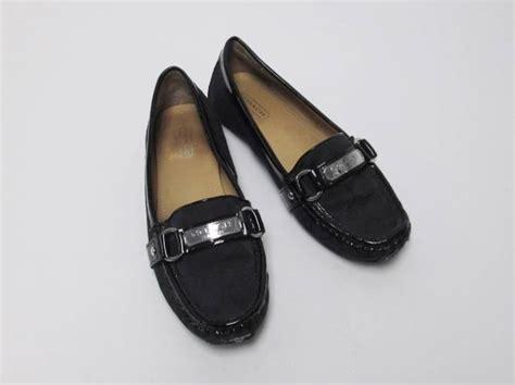 coach felisha loafer s coach felisha loafer signature black jacquard size