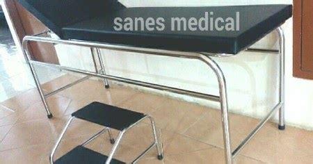 Ranjang Periksa sanes examination table ranjang meja periksa pasien tangga stainless steel ssm