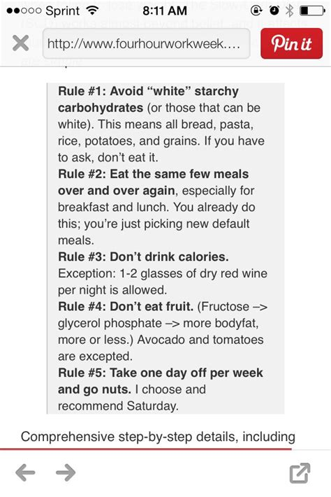 vegetables 4 hour 4 hour diet foods allowed discovernews