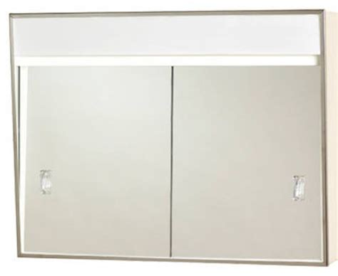 medicine cabinet with lights built in zenith 701l sliding door medicine cabinet w built in