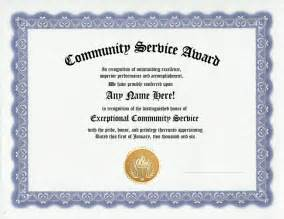 community service certificate template community service award certificate work recognition