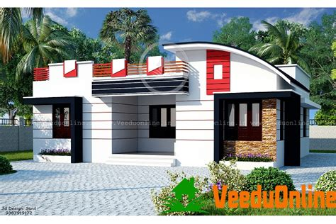 Design Home 880 Sqft 1200 Sq Ft Single Floor Contemporary Home Designs