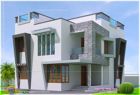 cute design of house cute double storied contemporary house kerala home