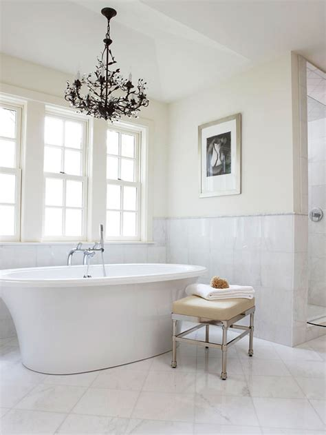 chandelier tub chandelier tub traditional bathroom bhg
