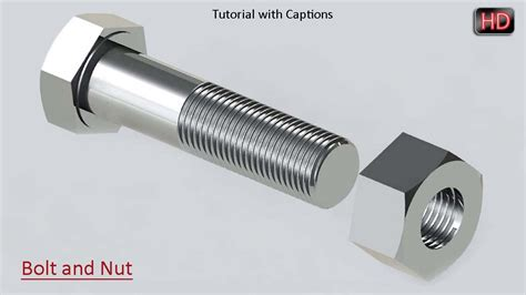 Solidworks Tutorial Bolt | solidworks tutorial bolt and nut modeling youtube