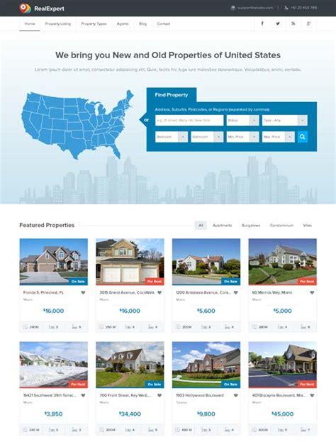 80 Best Real Estate Website Templates Free Premium Freshdesignweb Real Estate Responsive Website Templates Free