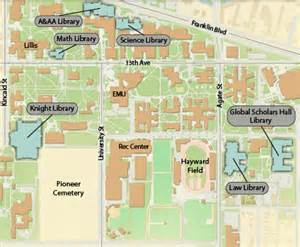 u of oregon map locations and maps of oregon libraries