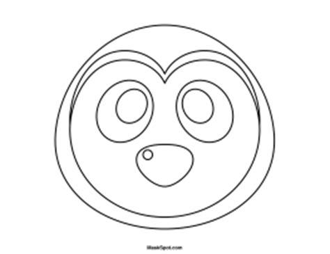 printable penguin face mask template printable penguin mask