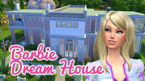 youtube barbie dream house the sims 4 speed build barbie dream house youtube