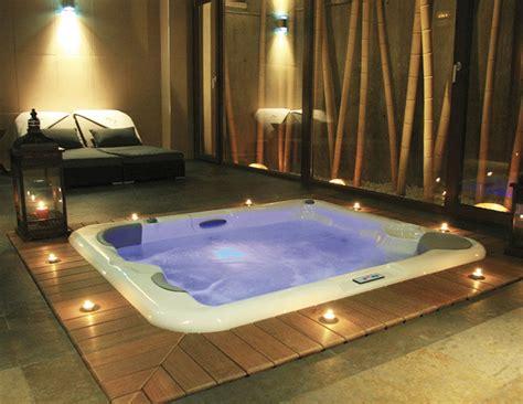 stylish modern built  hot tub design