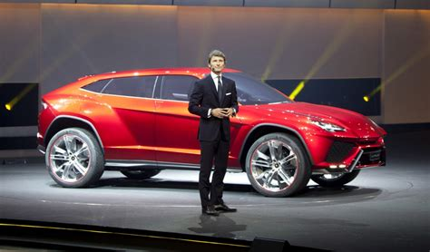 lamborghini ceo lamborghini ceo stephan winkelmann and the 2012 urus suv