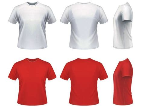 25 t shirt vector templates realistic mockup psd design