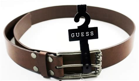 guess large genuine leather belt for s 35113 new