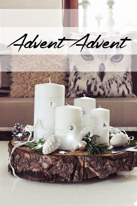 Adventskranz Auf Baumscheibe by S Bastelkistle Diy Simpler Adventskranz