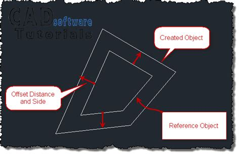 autocad tutorial offset command creating parallel lines in autocad using the offset