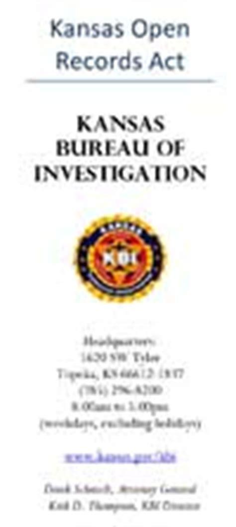 Kbi Criminal History Record Check Kbi Kansas Bureau Of Investigation Documents And Information Brochures