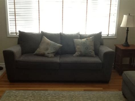 couch for bay window windows treatment options for bay window sofa in front