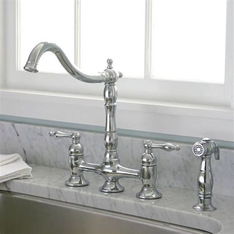 kitchen faucet deals charelstown bridge style 2 handle chrome kitchen faucet