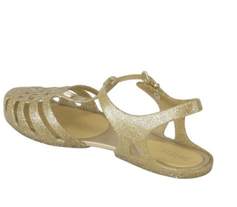 Gold Jelly gold jelly sandals crafty sandals