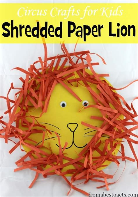 shredded paper crafts circus crafts for shredded paper circus