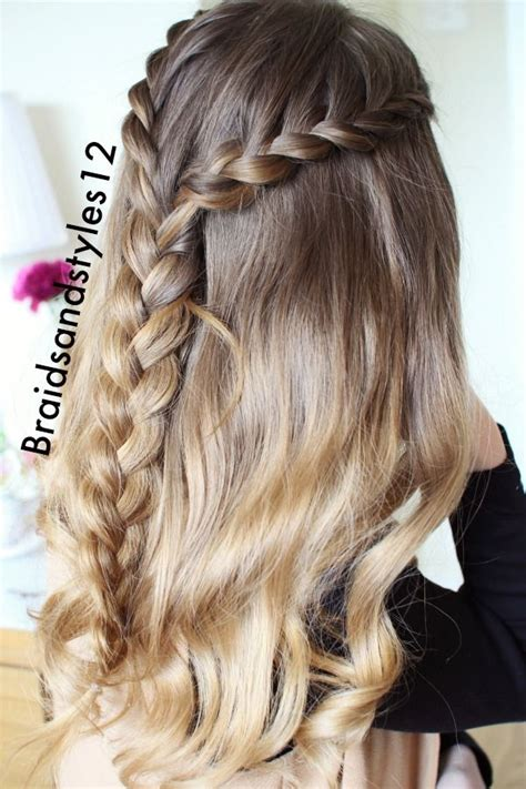 hairstyles for school down half up half down hairstyles half up half down braided