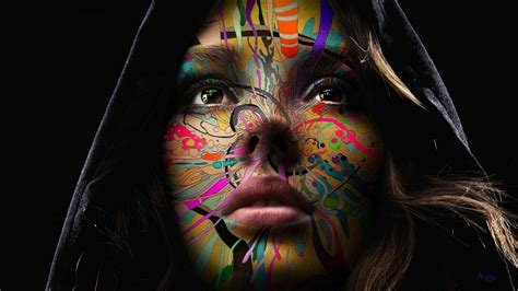 wallpaper abstract face chameleia full hd wallpaper and background 1920x1080
